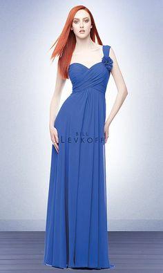 bill levkoff bridesmaid dresses | Bill Levkoff One Shoulder Flowers Long Chiffon Bridesmaid Dress 115 ...