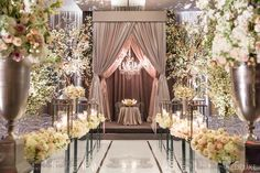 WedLuxe – The Bride Wore Oscar De La Renta at this Four Seasons Toronto Wedding | Photography by: Ikonica Follow @WedLuxe for more wedding inspiration!