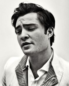 "Ed Westwick: ""He's stolen all the good looks in the world and just put 'em in his face."""