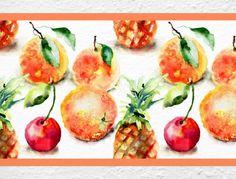 Bordüre für die Küche mit Obst