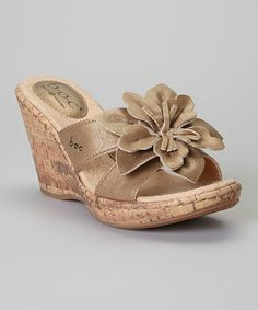 Take a look at the Sunbronze Fortune Wedge Leather Sandal on #zulily today!