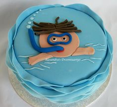 afzwem taart voor mijn zoontje die zijn A diploma heeft gehaald.