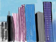Manhattan day . by Alan Jenkins iPad Art.2013. boyojenkins@icloud.com