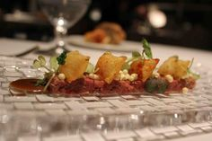 Steak tartare with mustard ice cream at El Celler de Can Roca, Girona, Spain  #4 on tripadvisor's Traveler's Choice 2013