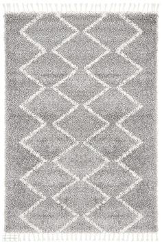 Saffron 11 Silver Rug - Online Only - Matt Blatt Moroccan Design, Transitional Rugs, Zig Zag Pattern, Neutral Palette, Rug Cleaning, Modern Rugs, Tribal Rug, Woven Rug, Abstract Pattern