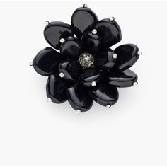 Chico's Nora Pin ($39) ❤ liked on Polyvore featuring jewelry, brooches, black, floral jewelry, polish jewelry, chicos jewelry, beading jewelry and beaded jewelry