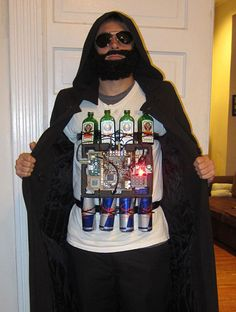 The Yagerbomber // This might be the only Halloween costume I could ever get Mike to wear.