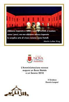 Auguri dell'Amministrazione del Comune di Nova Milanese