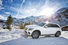 Snowfall? S'no problem. #MBPhotoCredit: @Peter.Linter #Mercedes #Benz #GLC #SUV #4MATIC #Snow #Instacar #carsofinstagram #germancars #luxury