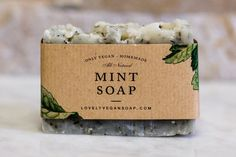 Mint soap - vegan soap,irritated skin soap,spa soap,homemade soap,oily skin soap,all natural soap,handmade soap
