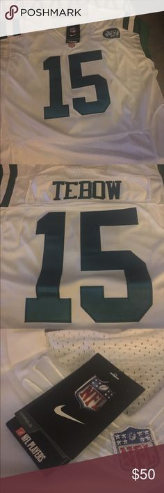 100% authentic 89681 6ee50 tim tebow jersey new york jets 15 men green game jersey nike ...