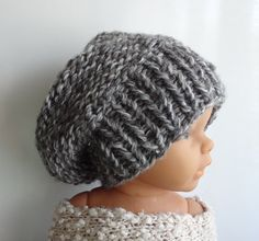 Newborn Hipster Hat  Baby Fall Winter Hat  Slouch by IfonBabyLand, $16.00