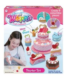 Riley for Whipple Craft Creations. Be Your Own Cake Boss with the Whipple Pretend Cake Decorating Set - The Toy Insider Toy Craft, Craft Kits, Diy Kits, Jewelry Kits, Toys For Girls, Baby Clothes Shops, Birthday Gifts, Birthday Cake, Cake Decorating