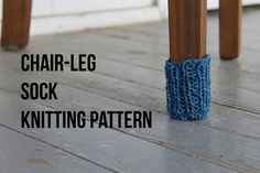 Do chair legs sometimes leave scuff marks on your hardwood floors? There's an easy solution: this free pattern!