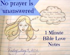 """There are no prayers that go """"unanswered."""" It's just that God sometimes answers """"no"""" or """"wait."""" ~~And some """"unanswered prayers"""" are wonderful gifts from God that we don't realize until later."""