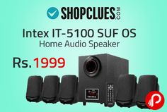 """Shopclues is offering Intex IT-5100 SUF OS Home Audio Speaker at Rs.1999. 5.1 Channel Multimedia Speaker With USB/SD/FM, Digital FM playability, AUX Audio Input Compatible With DVD/PC/LCD TV, Full Function Remote Control, LED Display, Output Power : 20W + 10W x 5, Speaker Size/Wait : Main Unit : 10.16cm (4'') Satellite : 7.62cm (3""""), Impedance : 4 Ω, FM Frequency Receiver : 88MHz To 108MHz,  http://www.paisebachaoindia.com/intex-it-5100-suf-os-home-audio-speaker-at-rs-1999-shopclues/"""