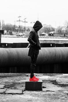 red air max nike sneakers
