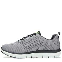 Skechers Mens Flex Advantage 2.0 The Happs X-Wide Memory Foam Sneakers (Grey/Black) - 10.5 4E