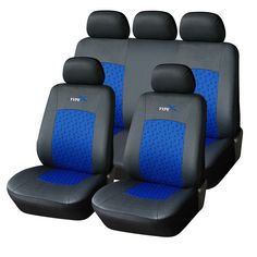 Furnistar 9-Piece Car Vehicle Protective Seat Covers with 5 Headrest Covers