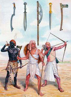 Armas de la época del antiguo Egipto.