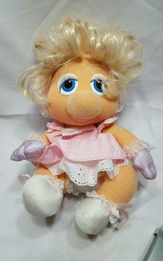 #Vintage #1983 #Hasbro #Softies #Miss #Piggy #Henson #Muppet #Babies #Plush Doll #HasbroSofties