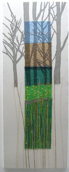 Landscape Panel by Sue Lancaster. Want to learn free-machine embroidery techniques? Learn direct from Sue in Sheffield, S Yorks. www.stitchedupandfleeced.com