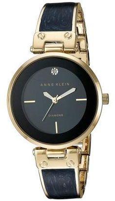 ee169f520356 Anne Klein - Anne Klein Women s AK-2512NVGB Gold Stainless-Steel Japanese  Quartz Fashion Watch - Walmart.com