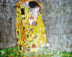 Wallpapers of various themes by Eleonora: WALLPAPER KLIMT : THE KISS