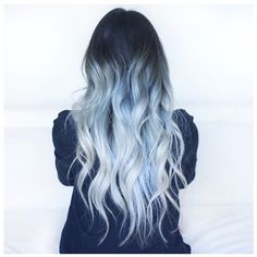 Getting my hair done tomorrow by the insanely talented @evalam_ I highly suggest you guys check her out, loving this icy blue ombre Photo by @jessfxstyle