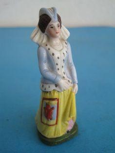 Antique miniature woman figurine sculpture statue Porcelain Germany nº L6L