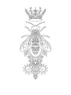 Queen Bee tattoo design by Vixy-Art tattoos Queen Bee tattoo design by Vixy-Art on DeviantArt Leg Tattoos, Body Art Tattoos, Sleeve Tattoos, Tatoos, Tattoo Designs, Tattoo Design Drawings, Queen Bee Tattoo, Tattoo Minimaliste, Arrow Tattoo