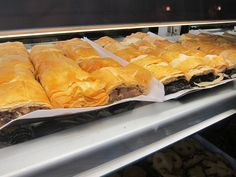 Cherry and poppy seed strudel at the Hungarian Pastry Shop in New York City.
