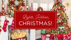 Lights ✨ Ribbon 🎀 Christmas! 🎄 Discover all the ways to upgrade your tree into a fully festive masterpiece with our tips and tricks. Diy Christmas Tree, Christmas Projects, Christmas Themes, Christmas Tree Decorations, Christmas Ornaments, Christmas Stuff, Tree Shop, Diy Projects Videos, Cute Home Decor