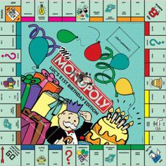 Monopoly Party, Monopoly Board, Monopoly Game, 21st Birthday Gifts, Birthday Ideas, Gift Vouchers, Party Games, House Warming, Birthdays