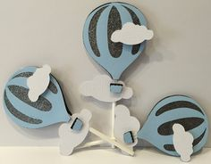 Hot Air Balloon Theme Cupcake Toppers Set by FitchCraftCreations