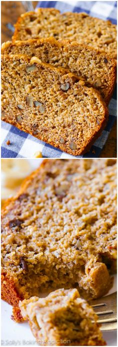Here's how to make healthy whole wheat banana bread with applesauce! Moist and tender, tastes like the full-fat version!