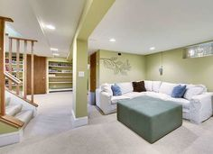 Basement remodeling can add lots of extra living space to your home but beware; basement water leakage could put a real damper on your hopes if not properly corrected. Modern Basement, Basement House, Basement Apartment, Basement Walls, Basement Bedrooms, Basement Bathroom, Basement Ideas, Basement Kitchenette, Basement Decorating