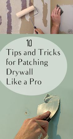 I used to avoid any projects that required me to fix drywall. I thought it was impossible to make it match from every angle until I discovered these drywall patching tips and tricks. How To Patch Drywall, Drywall Repair, Patching Drywall, Drywall Finishing, Wood Repair, Home Renovation, Home Remodeling, Remodeling Companies, Basement Renovations