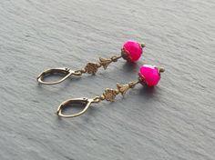 Ohrringe - Pink Flowers von Perlenfontäne auf DaWanda.com