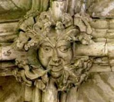 The Green Man of Winchester Cathedral