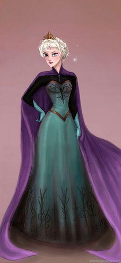 Crowned Elsa by Andrea Arbetta