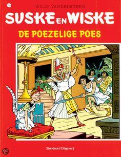 Suske en Wiske: De Poezelige Poes (155). Onze vrienden gaan op zoek naar een witte kat met zwart puntje aan de staart omdat die iets te maken zou hebben met een wereldwonder. Als ze de kat Maroef gevonden hebben en Barabas niet meteen ontdekt wat er bijzonder is aan de kat, flitst hij onze vrienden naar het oude Egypte. Het geheim lijkt te schuilen in een gouden diadeem die de kat als een ware zangeres doet zingen. Als bandieten de zingende kat ontdekken, proberen ze die te ontvoeren.