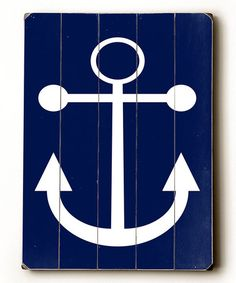 Paneled wood wall art with an anchor motif. Product: Wall decor Construction Material: Wood Features: Ready to hang For indoor use only Dimensions: H x WNote: All hardware included Cleaning and Care: Wipe with a damp cloth Anchor Wall Decor, Wood Wall Decor, Wood Wall Art, Wall Décor, House Wall, Wood Panel Walls, Wood Paneling, Vintage Wood Signs, Navy Anchor