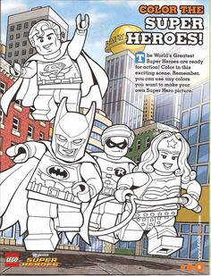 Lego Super Heros Coloring Page Free Printable
