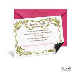 Floral Vine Save the Date Magnet