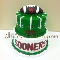 OU- Oklahoma Sooners Football Cake