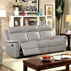 Furniture Of America Salome Light Gray Sofa Collection CM6798-SF