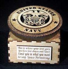 US Navy, Army, Marines ,Air Force, Coast Guard Music Box by richardglass1 on Etsy