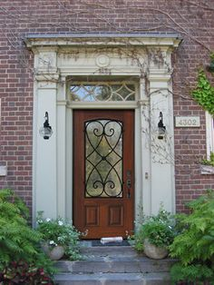 One Panel Charleston Wrought Iron Decorative Front Door Porte Cochere Wood Exterior Entrance