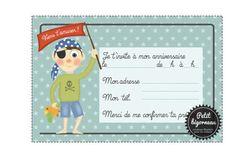 PDF/Carte d'invitation d'anniversaire Pirate à par Petitbigorneau